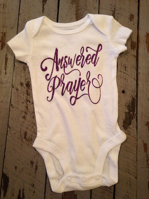 Answered prayer religious baby girl gift baby girl clothes shirt answered prayer baby gift religious baby by trendiesttotsintown negle Image collections