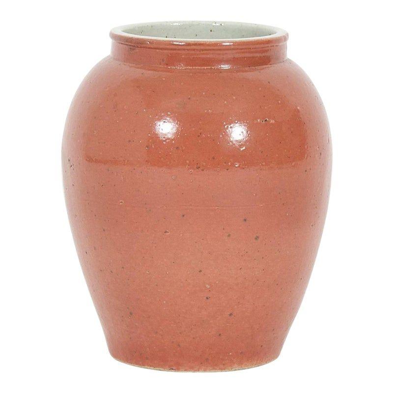 Classic Form Asian Salmon Glazed Pot or Vase