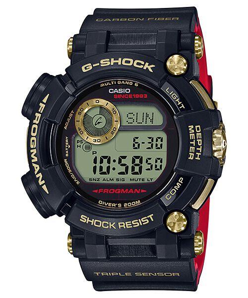 e92228242cf G-Shock GWF-D1035B-1 Frogman Gold Tornado 35th Anniversary Relógio Casio