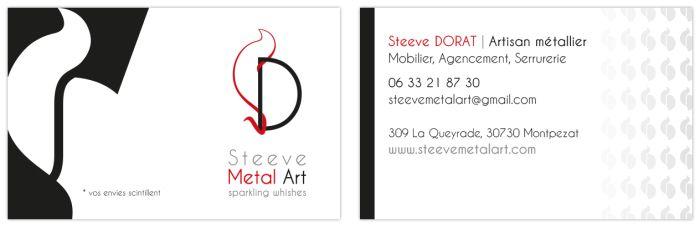 Steeve Metal Art Carte De Visite