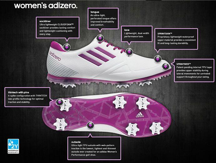 Adidas Women's Adizero Tour Golf Shoes technical features