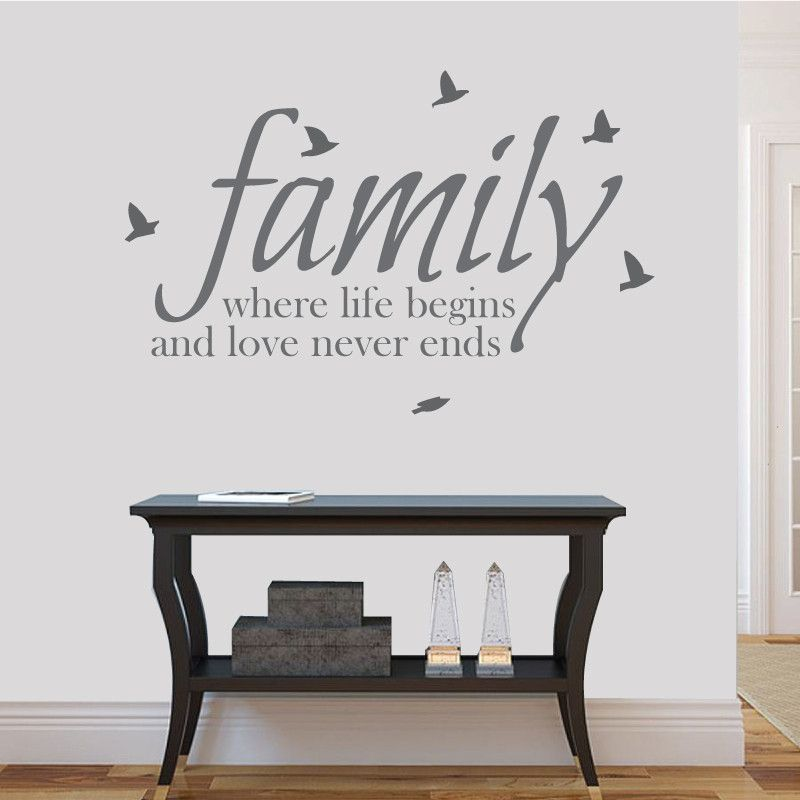 Where Life Begins Family Wall Sticker Family Wall Wall Sticker - Wall decals about family