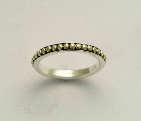 Wedding band  Thin simple sterling silver and by artisanlook, $220.00
