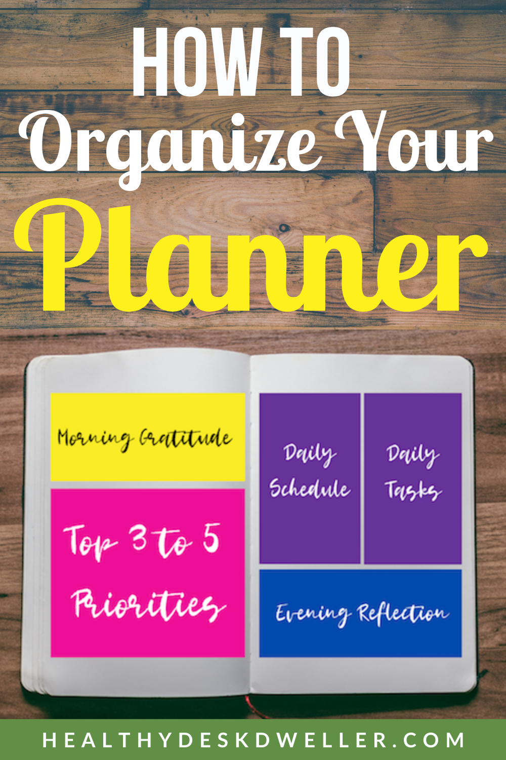How to Organize Your Planner ,