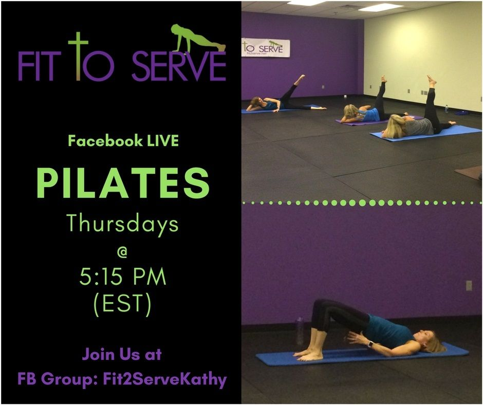 Join me for FREE 45 min Pilates class on Facebook LIVE