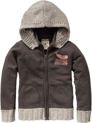 Sweat With Detachable Knitted Hood - Shrunk by Scotch and Soda - Buckets and Spades for kids