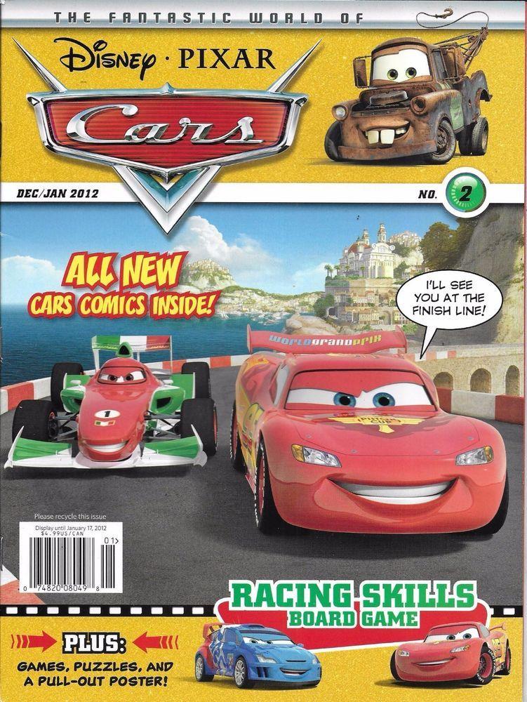 Disney Pixar Cars magazine Puzzles Quizzes Comics Games