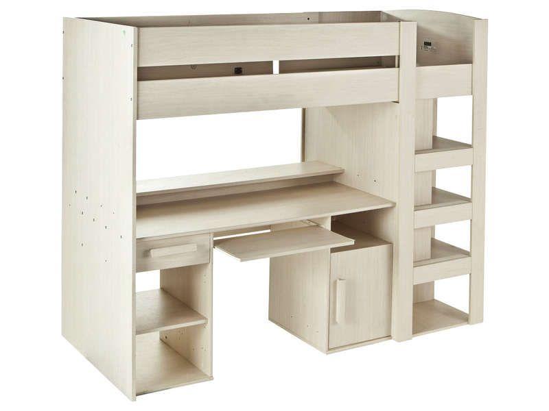 Combine Lit Bureau Conforama #15: Lit Mezzanine 90X200 Cm