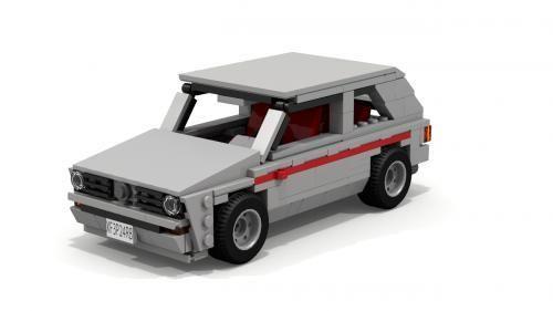 Lego Set Moc 3686 Volkswagen Golf Gti Mki Building Instructions