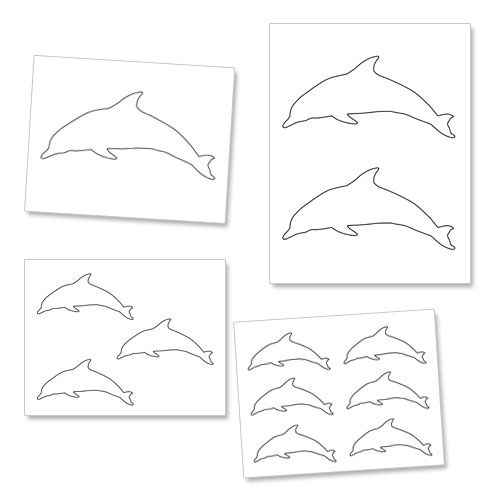printable dolphin template from printabletreatscom