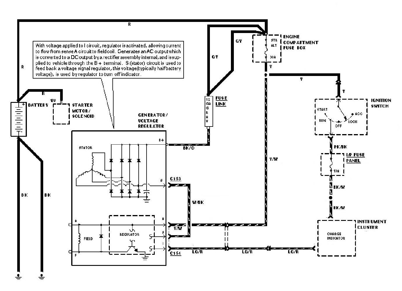 Wiring Diagram Internal Regulator Alternator  With Images