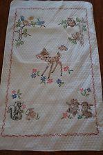 Vtg Disney Baby Quilt Blanket Bambi Thumper Paragon Cross Stitch ... : disney baby quilts - Adamdwight.com
