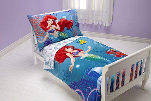 Disney 4 Piece Toddler Set Ariel Ocean Princess Disney Http Www Amazon Com Dp B00c6cs Toddler Bed Set Mermaid Toddler Bedding Toddler Bedroom Sets