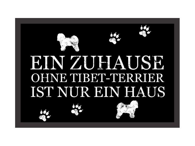 Fussmatte Ein Zuhause Ohne Tibet Terrier Schwarz Von Interluxe Via Dawanda Com Tibet Terrier Terrier Tibet