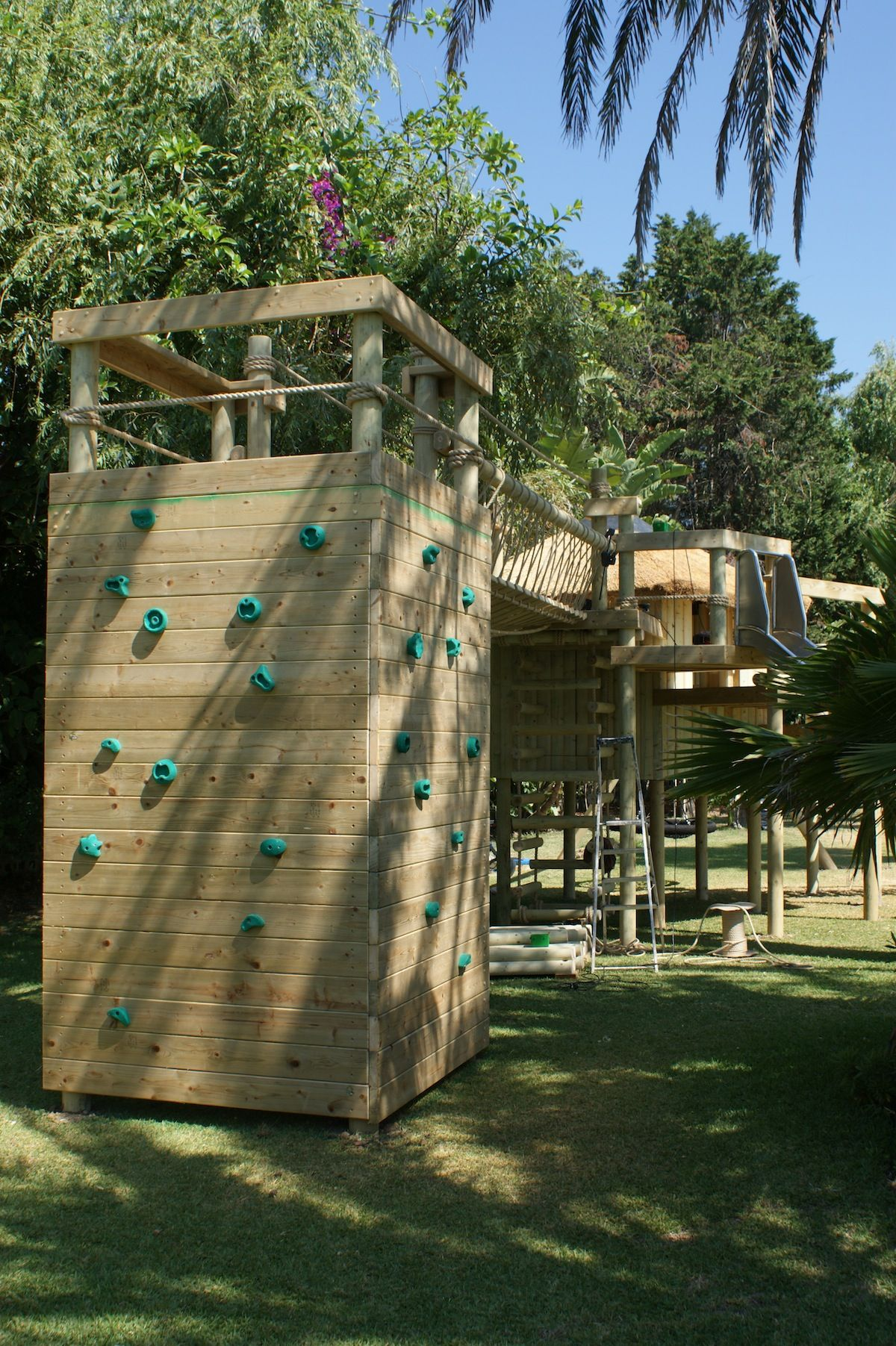 Climbing Walls For Treehouses By Treehouse Life A World Away