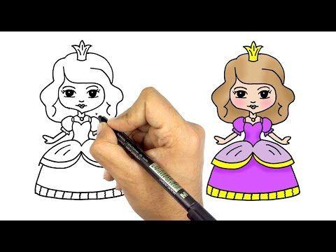 تعليم الرسم للاطفال كيف ترسم عروسة كيوت وجميلة خطوة بخطوة للمبتدئين Youtube Princess Art Princess Drawings Art