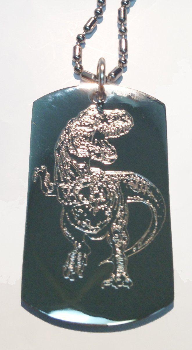 Tyrannosaurus Rex TRex Dinosaur Hunter Military Dog Tag