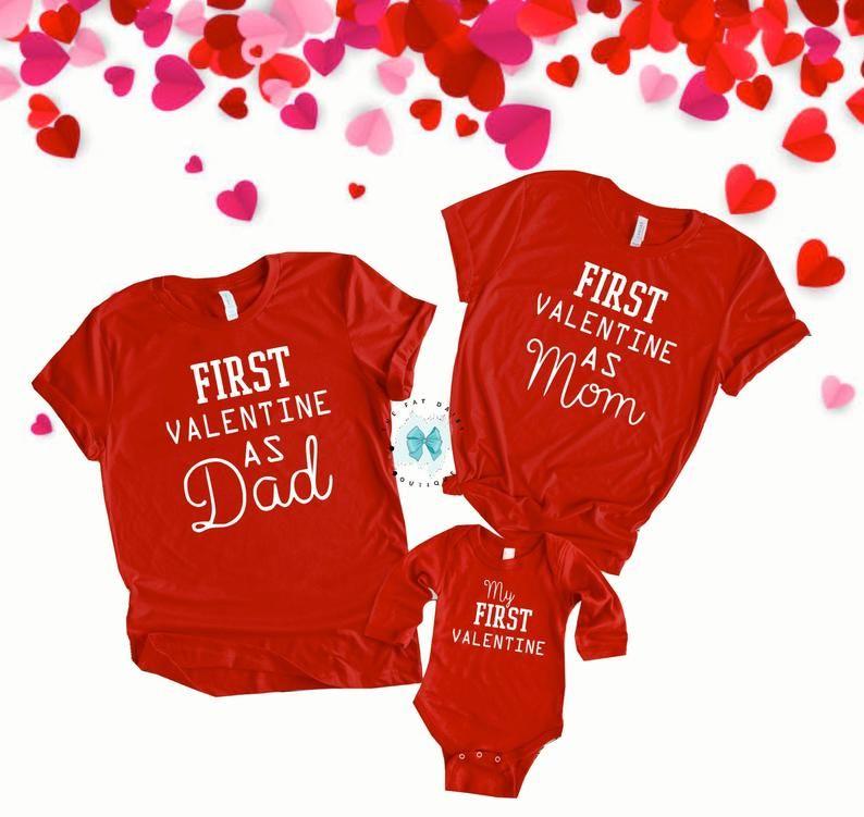 """Valentine Girls Handmade red daddy/'s little valentine glitter 4/"""" bow baby band"""