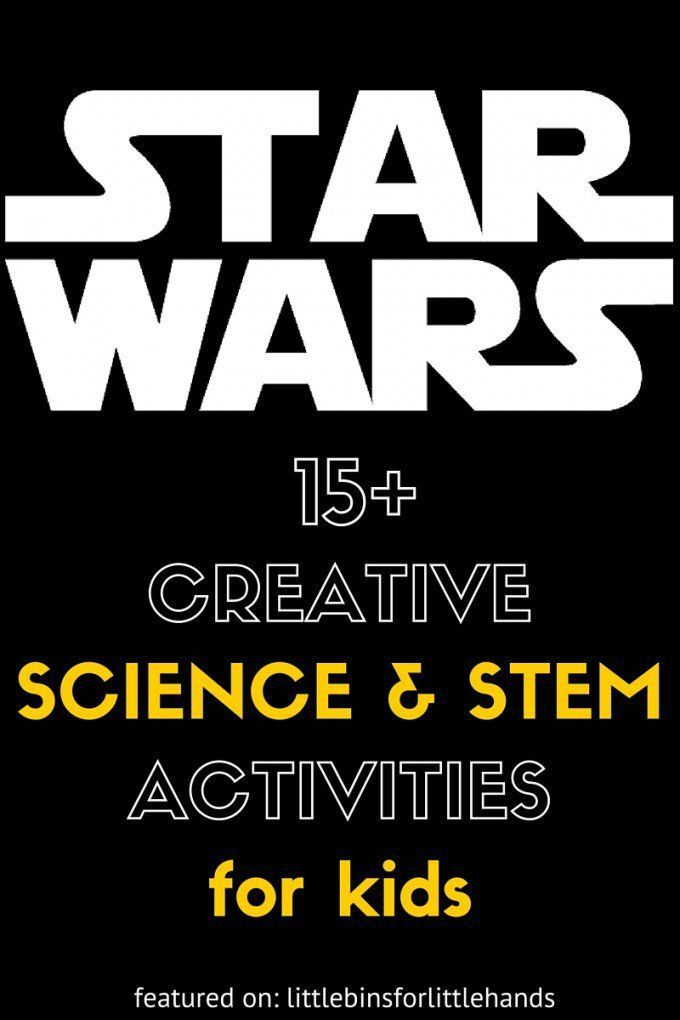 Star Wars Science Activities and Star Wars STEM Ideas for Kids is part of Kids Crafts Activities Star Wars - Awesome and easy to do Star Wars science activities and STEM ideas your kids will love to do  Don't just watch the movies, learn along with them too!