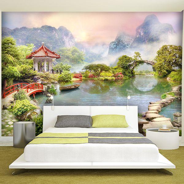 Papier Paint Vinyle lac #papierpeint #vinyle #mur #décoration #deco