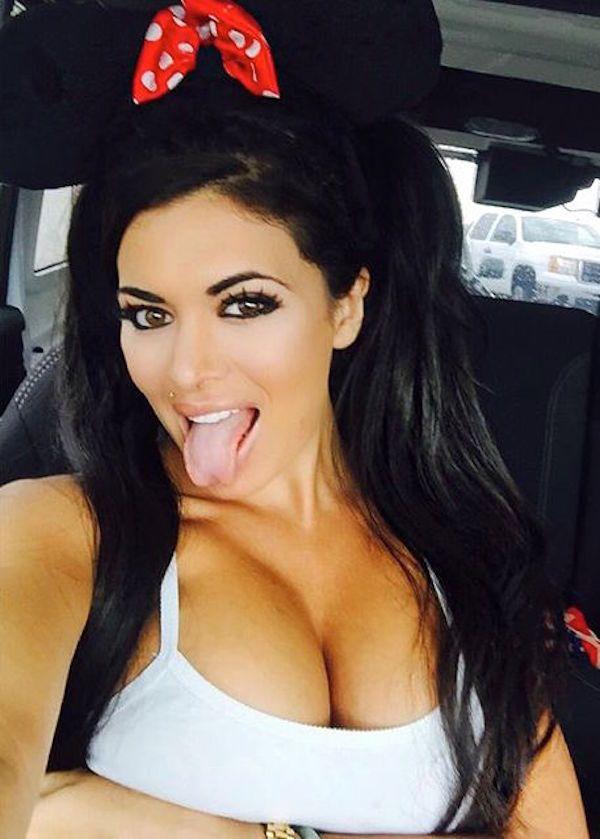 Hot naked women tongue