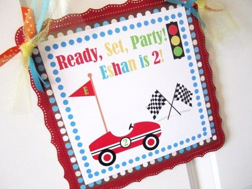 Race Car Welcome Door Sign for Boys Birthday Party or Bedroom