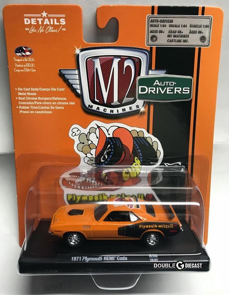 1 64 M2 Machines Auto Drivers R50 1971 Plymouth Hemi Cuda 11228 50 M2machines Plymouth Diecast Cars Hot Wheels Toy Car