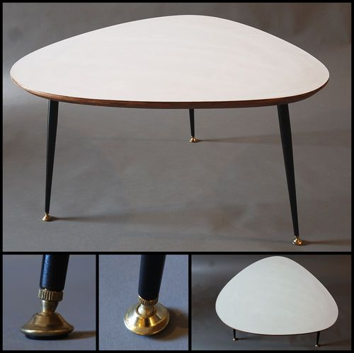 Tres grande table basse tripode design moderniste annee 50 - Tres grande table basse ...