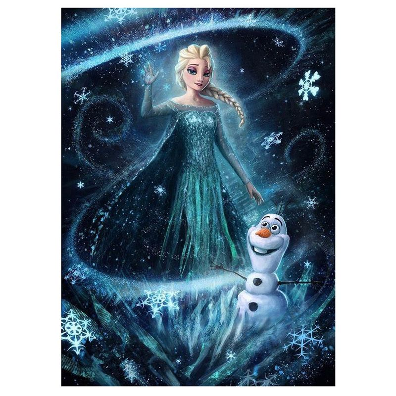 5d Diamond Painting Elsa And Olaf Frozen Kit Diamond Painting Disney Art 5d Diamond Painting