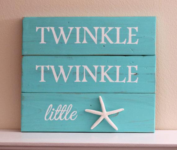 Twinkle Twinkle Little Star Starfish wall art Starfish decor | Baby ...