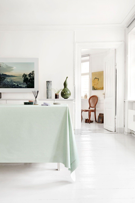 Almost Linen Oilcloth Mint Green Buy Online Stue Design Spiseborde