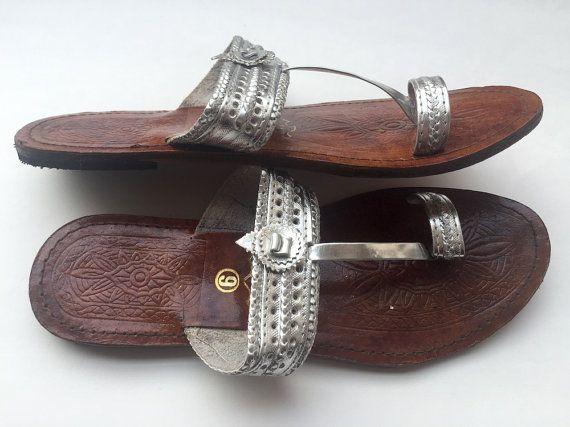 ce4a070d6b612f Silver Kolhapuri Chappals Shoes for Women Women by FootSoles ...