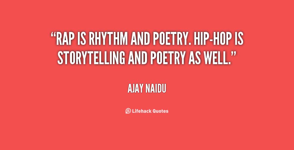 Forget Hip-hop....Im a poet.