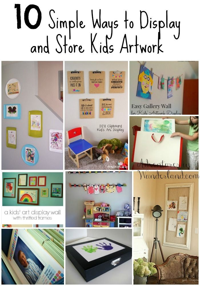 10 Simple Ways To Display And Store Kids Artwork  Long Vertical Rectangular  Frame With Chicken Wire For Family Room