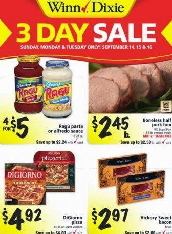 Winn-Dixie 3-Day Sale: 9/14—9/16