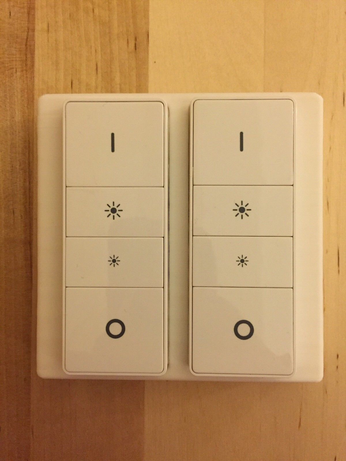 Twin Slim Light Switch Cover Plate White For Philips Hue Dimmer
