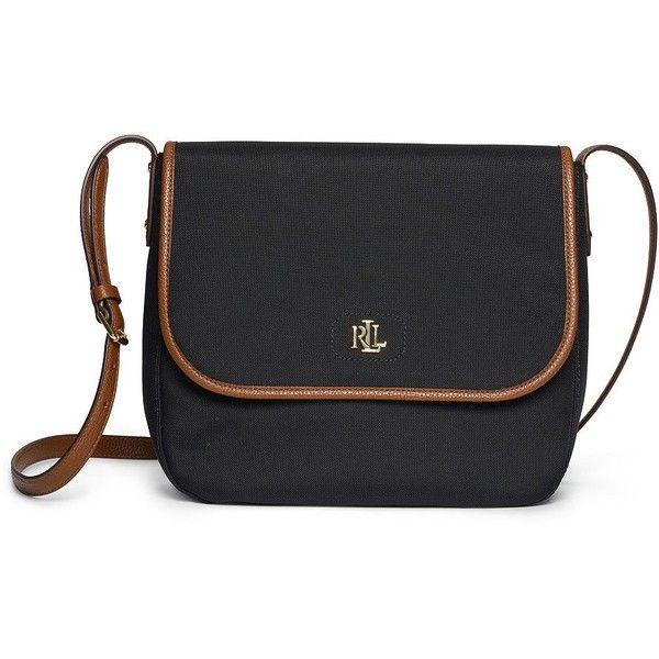 dc54e81c6e Lauren Ralph Lauren Bainbridge Nylon Messenger Bag ( 98) ❤ liked on  Polyvore featuring bags