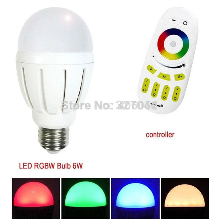 Smart Lighting Wifi Rgb Led Bulb E27 6w With Remote Controller 1pcs Led Bulb 1x Controller Affiliate Smart Lighting Bulb Led Bulb