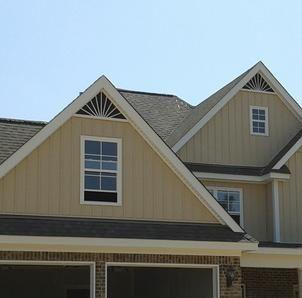 Onyx Xteriors Triangle Gable Vents Half Round Window Trim Aluminum Gable Vents House Exterior House Exterior House Colors
