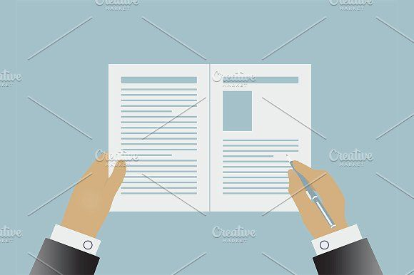 Hands signing business contract Graphics Hands signing business - business contract