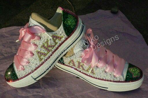 Bling converse, Bling shoes, Aka sorority