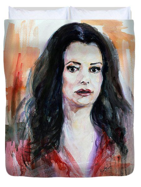 Duvet Cover Featuring The Painting Criminal Minds Emily Prentiss