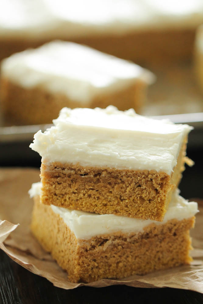 Frosted Pumpkin Sugar Cookie Bars