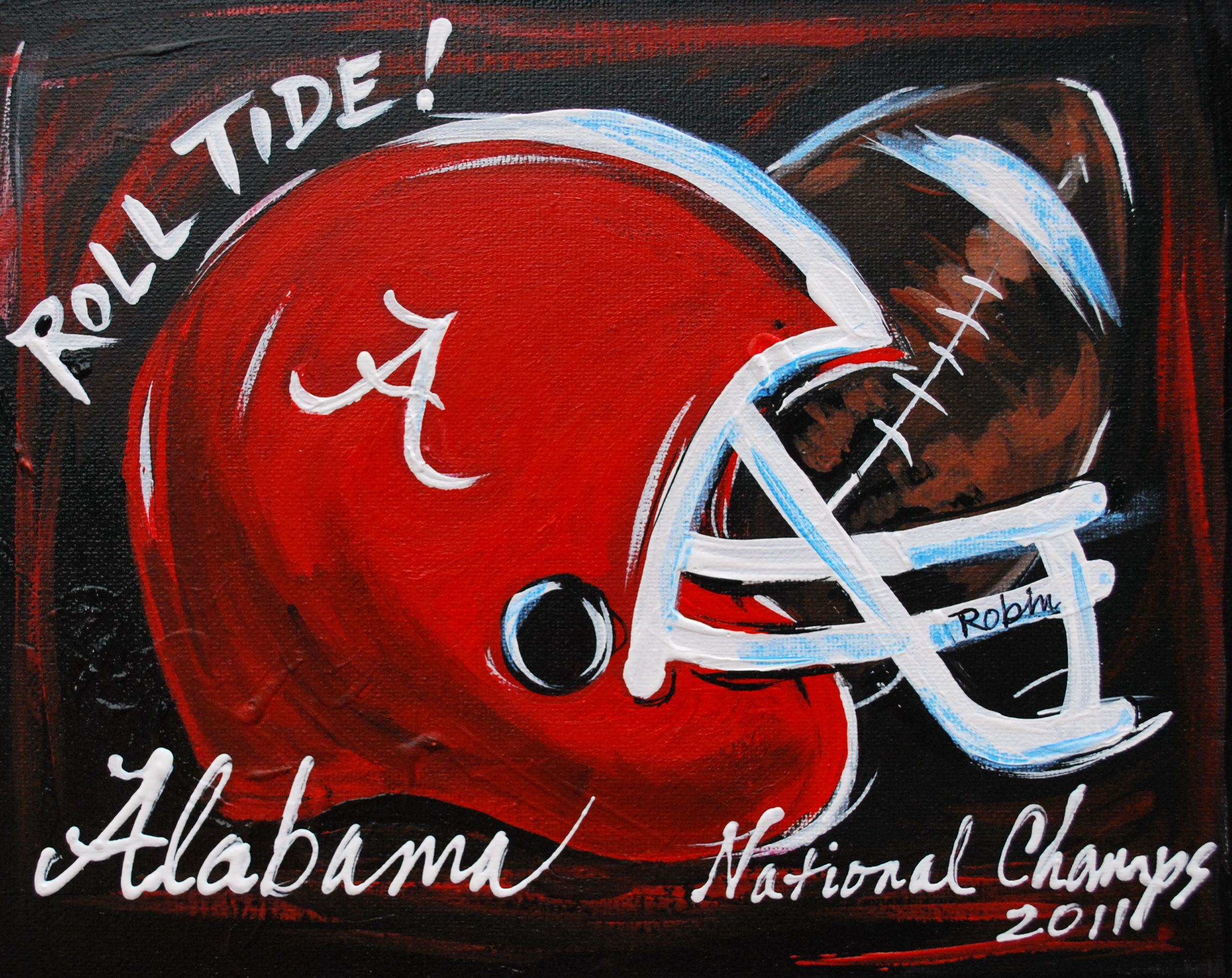 Roll Tide 2012 Champs Coming To Canvas By U Classes Soon With Images Sports Painting Painting Canvases Football Paintings