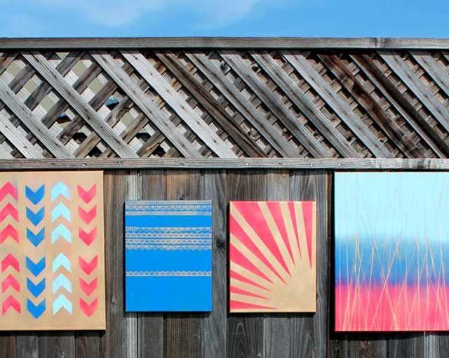 Spray Paint Canvas Ideas Part - 42: Spray Paint- 100 Creative DIY Wall Art Ideas To Decorate Your Space Via  Brit + Co.