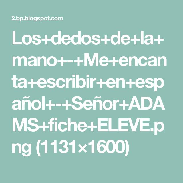 Los+dedos+de+la+mano+-+Me+encanta+escribir+en+español+-+Señor+ADAMS+fiche+ELEVE.png (1131×1600)
