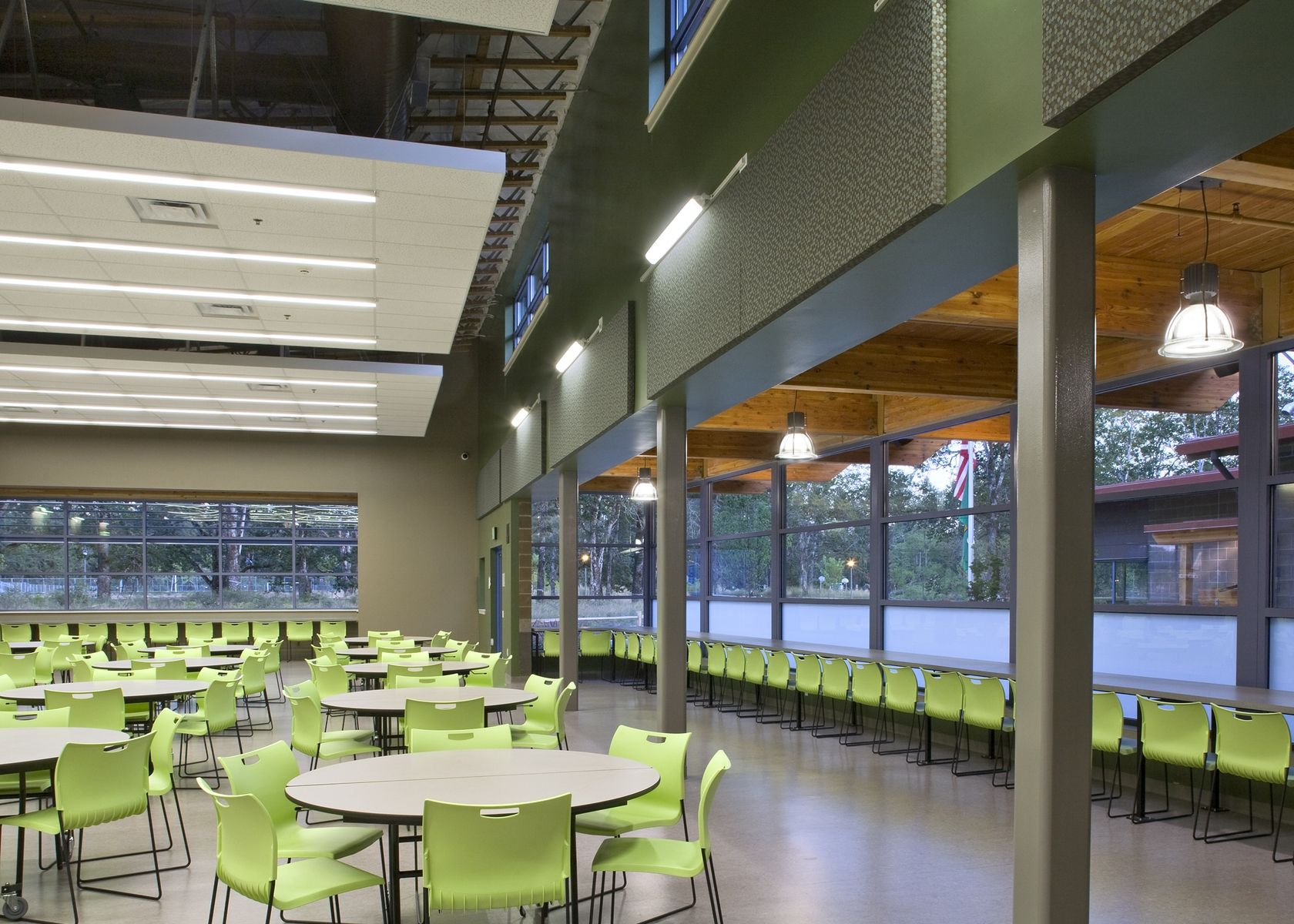 Pioneer Middle School | Cafeteria design, Boarding school ...