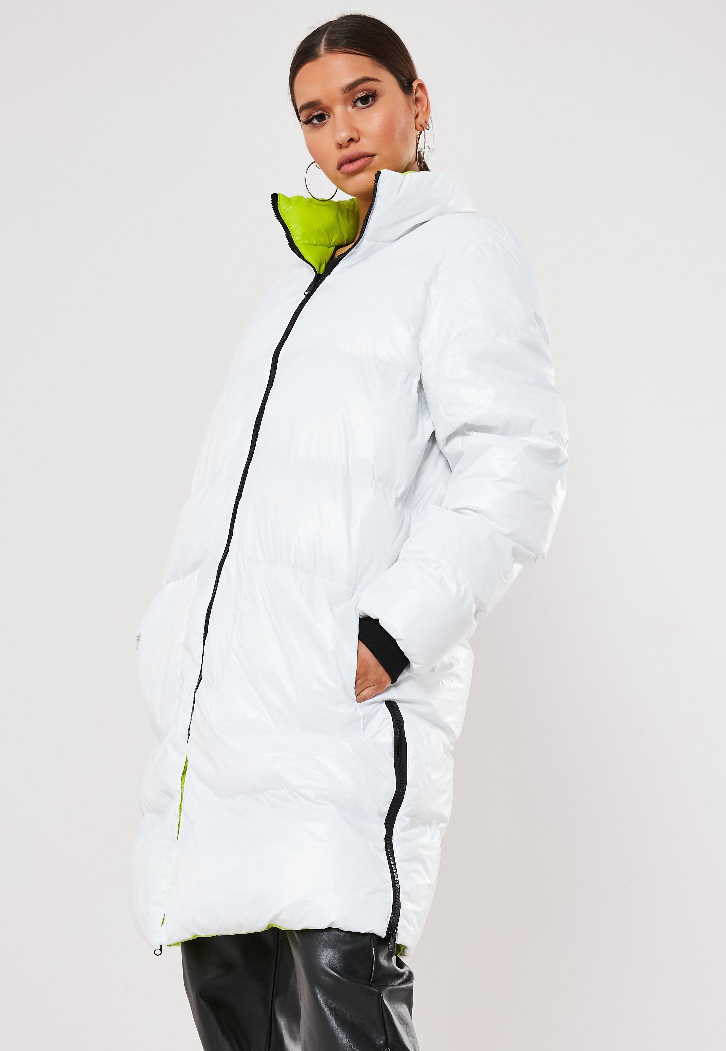 White Reversible Longline Puffer Jacket Sponsored Reversible Affiliate White Longline Jackets White Puffer Jacket Women S Coats Jackets [ 4200 x 2900 Pixel ]