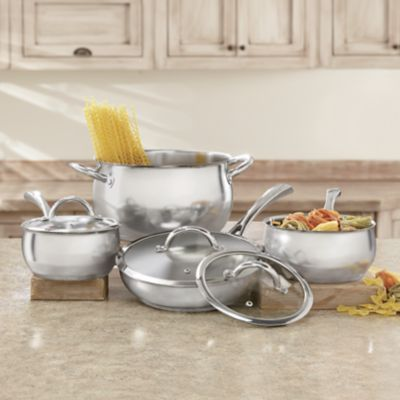 Kitchen Yates Castle Decor Cookware Set Cookware Stainless Steel