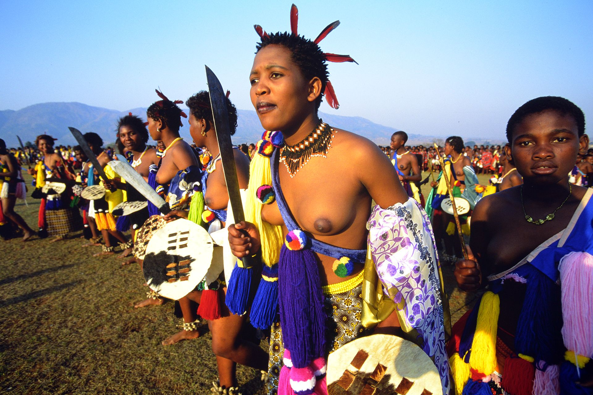 Zulu Girls Attend Umhlanga, The Annual Reed Dance Festival -5848